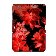 Red Flower  Samsung Galaxy Tab 2 (10 1 ) P5100 Hardshell Case  by Brittlevirginclothing