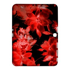 Red Flower  Samsung Galaxy Tab 4 (10 1 ) Hardshell Case  by Brittlevirginclothing