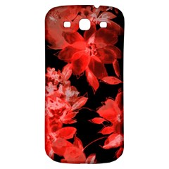 Red Flower  Samsung Galaxy S3 S Iii Classic Hardshell Back Case by Brittlevirginclothing