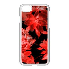 Red Flower  Apple Iphone 7 Seamless Case (white) by Brittlevirginclothing