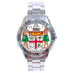 Coat Of Arms Of Fiji Stainless Steel Analogue Watch by abbeyz71