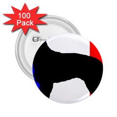 Berger Picard Silo France Flag 2.25  Buttons (100 pack)  by TailWags