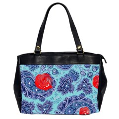 Red Pearled Roses Office Handbags (2 Sides)  by Brittlevirginclothing