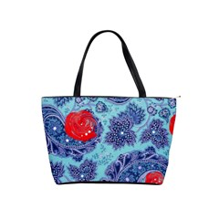 Red Pearled Roses Shoulder Handbags by Brittlevirginclothing