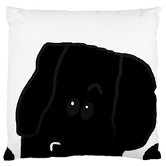 Peeping Newfie Standard Flano Cushion Case (One Side) by TailWags