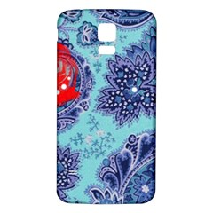 Red Pearled Roses Samsung Galaxy S5 Back Case (white) by Brittlevirginclothing