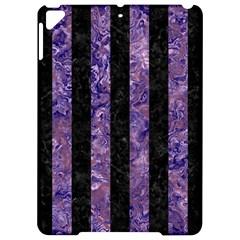Stripes1 Black Marble & Purple Marble Apple Ipad Pro 9 7   Hardshell Case by trendistuff