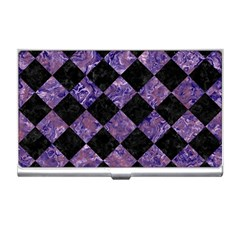 Square2 Black Marble & Purple Marble Business Card Holder by trendistuff