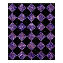 Square2 Black Marble & Purple Marble Shower Curtain 60  X 72  (medium) by trendistuff