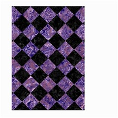 Square2 Black Marble & Purple Marble Large Garden Flag (two Sides) by trendistuff
