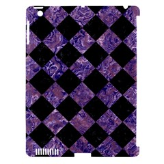 Square2 Black Marble & Purple Marble Apple Ipad 3/4 Hardshell Case (compatible With Smart Cover) by trendistuff