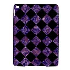 Square2 Black Marble & Purple Marble Apple Ipad Air 2 Hardshell Case by trendistuff