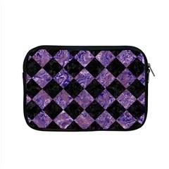 Square2 Black Marble & Purple Marble Apple Macbook Pro 15  Zipper Case by trendistuff