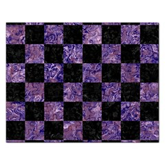 Square1 Black Marble & Purple Marble Jigsaw Puzzle (rectangular) by trendistuff