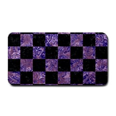 Square1 Black Marble & Purple Marble Medium Bar Mat by trendistuff