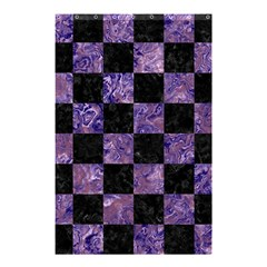 Square1 Black Marble & Purple Marble Shower Curtain 48  X 72  (small) by trendistuff