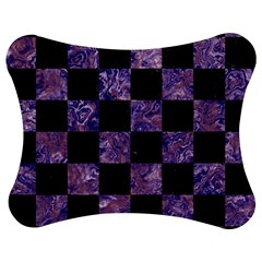 Square1 Black Marble & Purple Marble Jigsaw Puzzle Photo Stand (bow) by trendistuff
