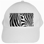 Animal Cute Pattern Art Zebra White Cap