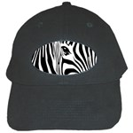 Animal Cute Pattern Art Zebra Black Cap