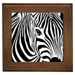 Animal Cute Pattern Art Zebra Framed Tiles