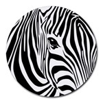 Animal Cute Pattern Art Zebra Round Mousepads