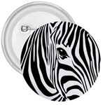 Animal Cute Pattern Art Zebra 3  Buttons