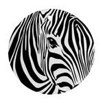 Animal Cute Pattern Art Zebra Ornament (Round)