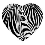Animal Cute Pattern Art Zebra Ornament (Heart)