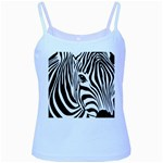 Animal Cute Pattern Art Zebra Baby Blue Spaghetti Tank