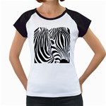 Animal Cute Pattern Art Zebra Women s Cap Sleeve T