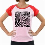 Animal Cute Pattern Art Zebra Women s Cap Sleeve T-Shirt