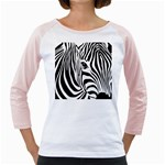 Animal Cute Pattern Art Zebra Girly Raglans
