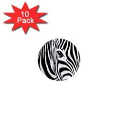 Animal Cute Pattern Art Zebra 1  Mini Magnet (10 Pack)