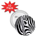 Animal Cute Pattern Art Zebra 1.75  Buttons (10 pack)