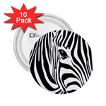 Animal Cute Pattern Art Zebra 2.25  Buttons (10 pack)