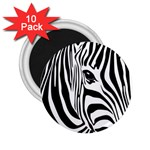 Animal Cute Pattern Art Zebra 2.25  Magnets (10 pack)