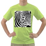 Animal Cute Pattern Art Zebra Green T-Shirt