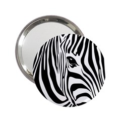Animal Cute Pattern Art Zebra 2 25  Handbag Mirrors