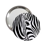 Animal Cute Pattern Art Zebra 2.25  Handbag Mirrors