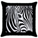 Animal Cute Pattern Art Zebra Throw Pillow Case (Black)