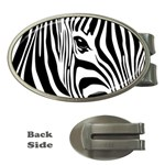 Animal Cute Pattern Art Zebra Money Clips (Oval)