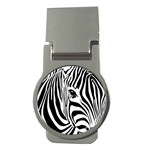 Animal Cute Pattern Art Zebra Money Clips (Round)
