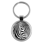 Animal Cute Pattern Art Zebra Key Chains (Round)