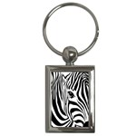 Animal Cute Pattern Art Zebra Key Chains (Rectangle)