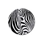 Animal Cute Pattern Art Zebra Rubber Coaster (Round)
