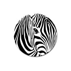 Animal Cute Pattern Art Zebra Magnet 3  (round)