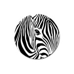 Animal Cute Pattern Art Zebra Magnet 3  (Round)