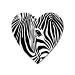 Animal Cute Pattern Art Zebra Heart Magnet