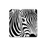 Animal Cute Pattern Art Zebra Square Magnet