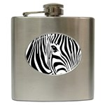 Animal Cute Pattern Art Zebra Hip Flask (6 oz)